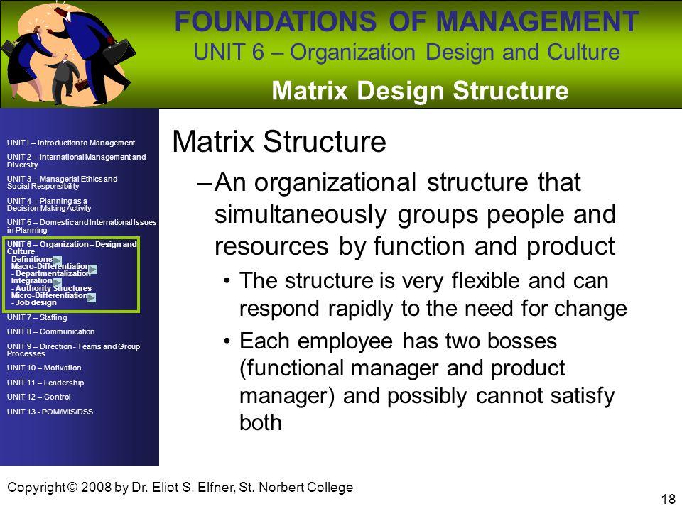 Matrix Design Structure