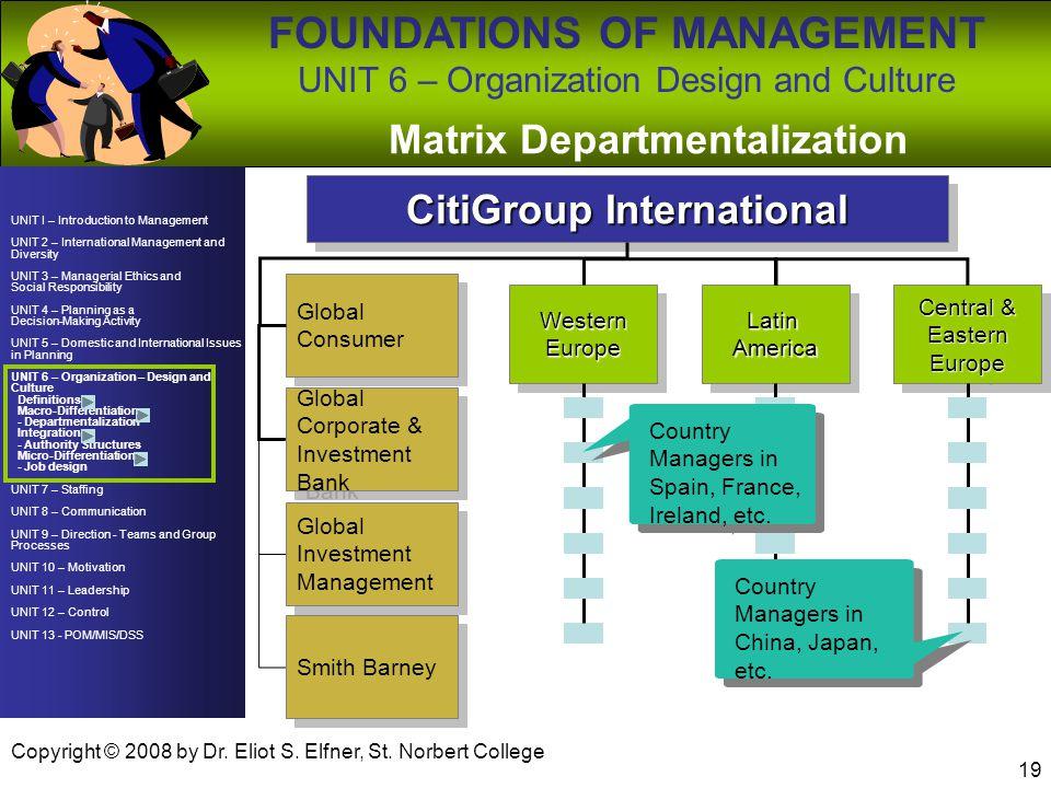 Matrix Departmentalization