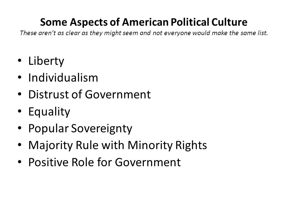 Distrust of Government Equality Popular Sovereignty