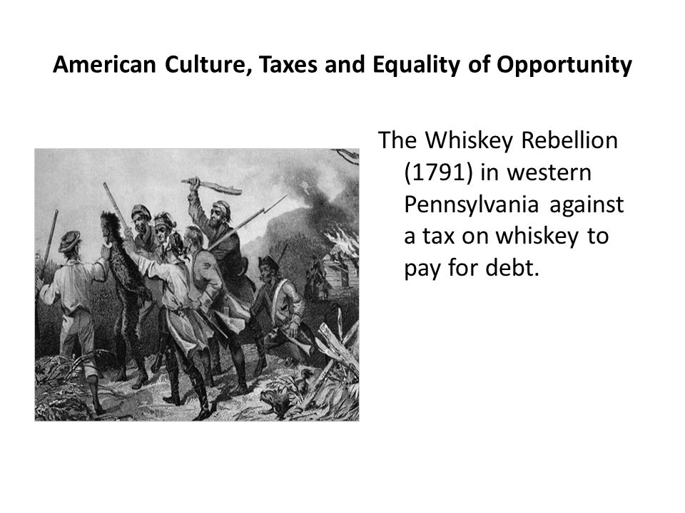 American Culture, Taxes and Equality of Opportunity