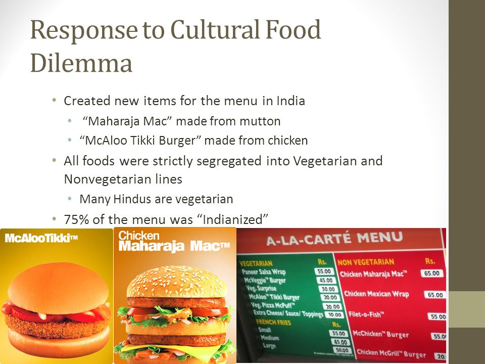 Response to Cultural Food Dilemma
