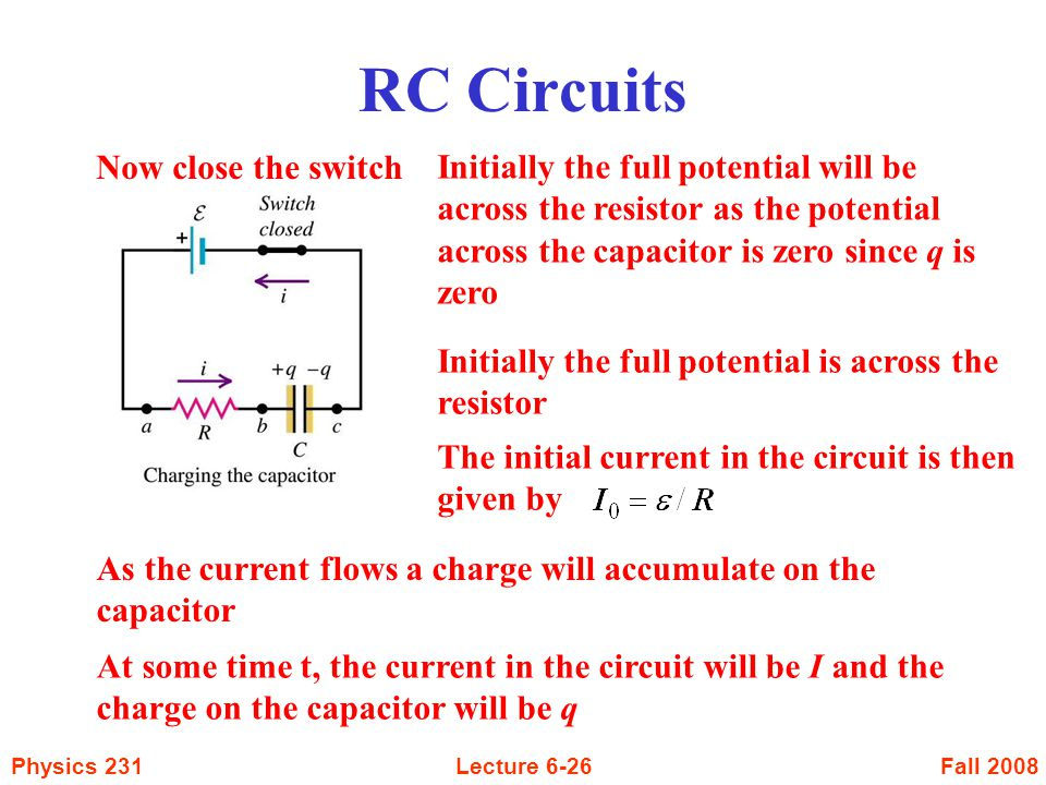 RC Circuits Now close the switch