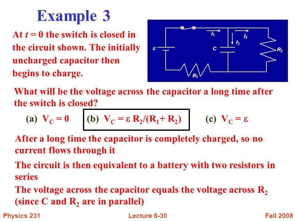 Example 3 I1. I3. I2. e. R2. C. R1.