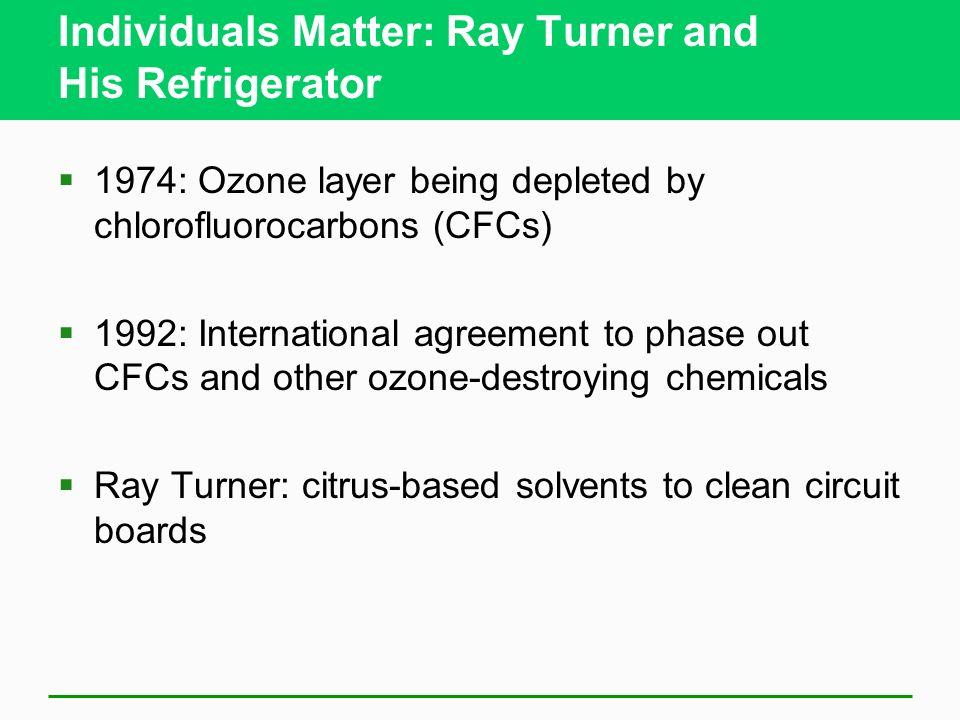 Individuals Matter: Ray Turner and His Refrigerator