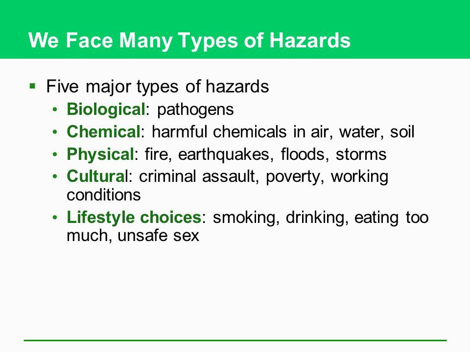 We Face Many Types of Hazards