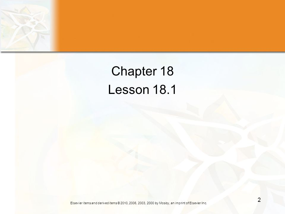 Chapter 18 Lesson 18.1