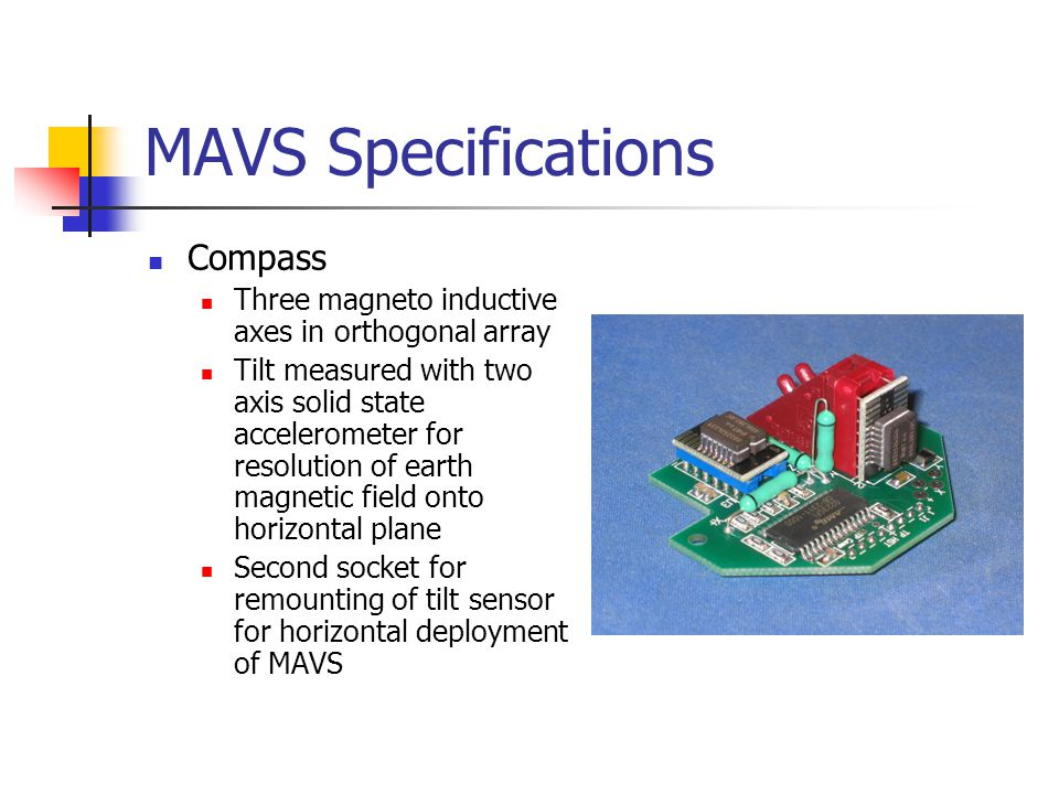 MAVS Specifications Compass