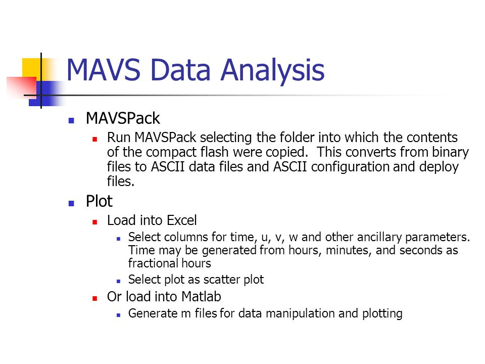 MAVS Data Analysis MAVSPack Plot