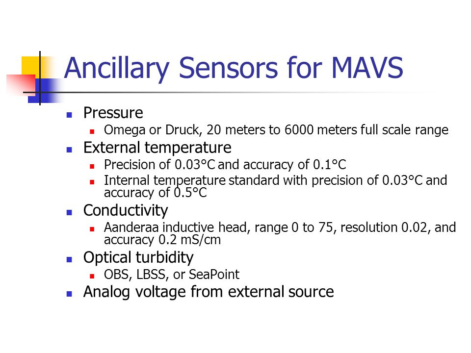 Ancillary Sensors for MAVS