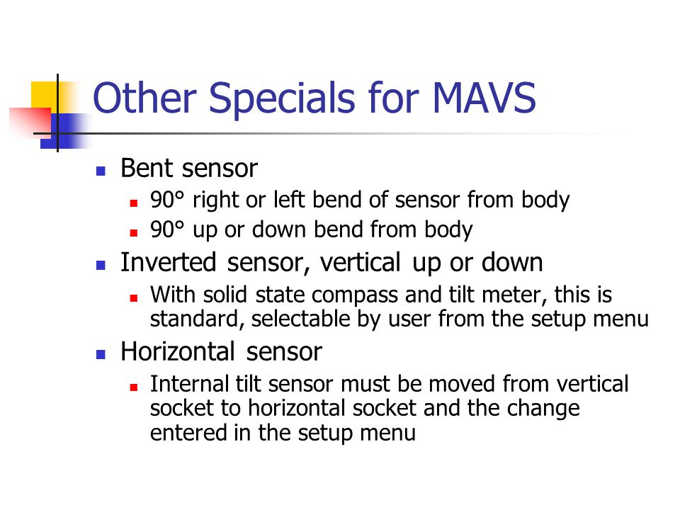 Other Specials for MAVS