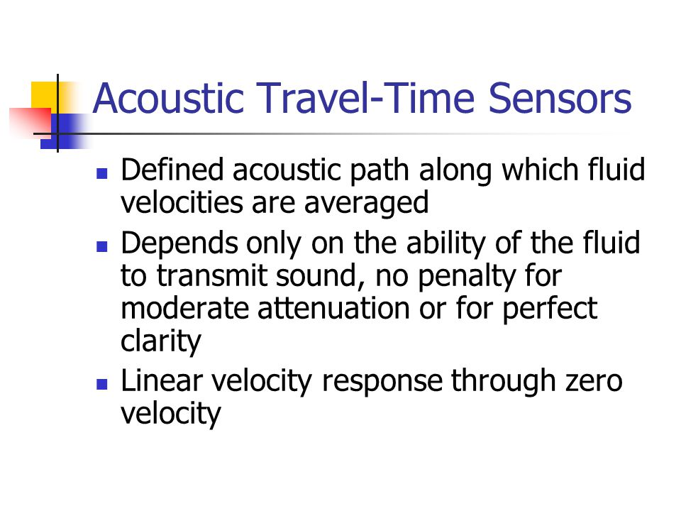 Acoustic Travel-Time Sensors