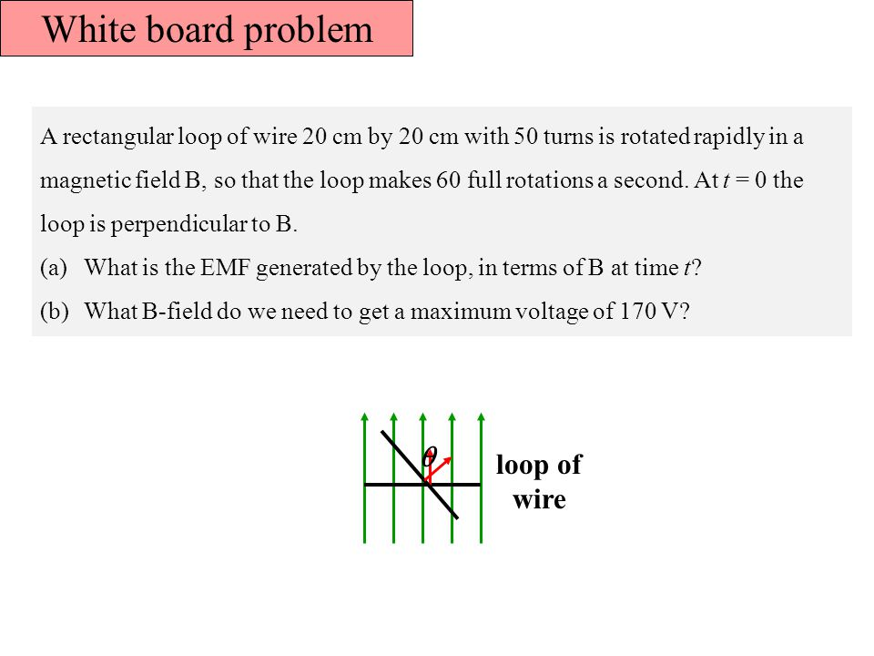 White board problem  loop of wire