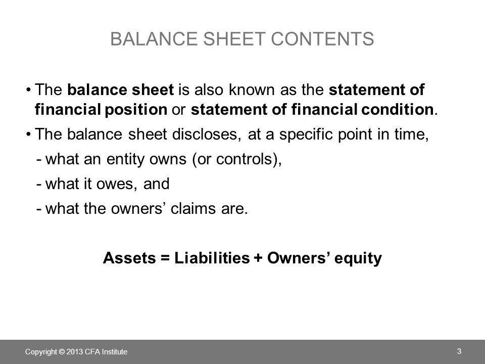 Chapter  Understanding Balance Sheets  Ppt Download