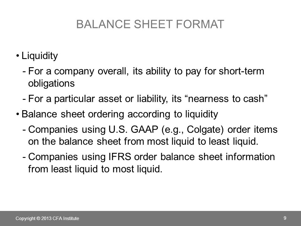 Chapter 5 Understanding Balance Sheets ppt download – Basic Balance Sheet Format