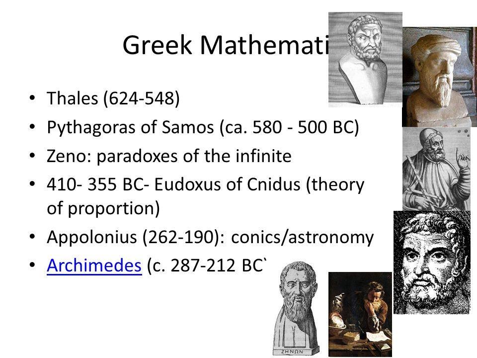 Greek Mathematics Thales (624-548)