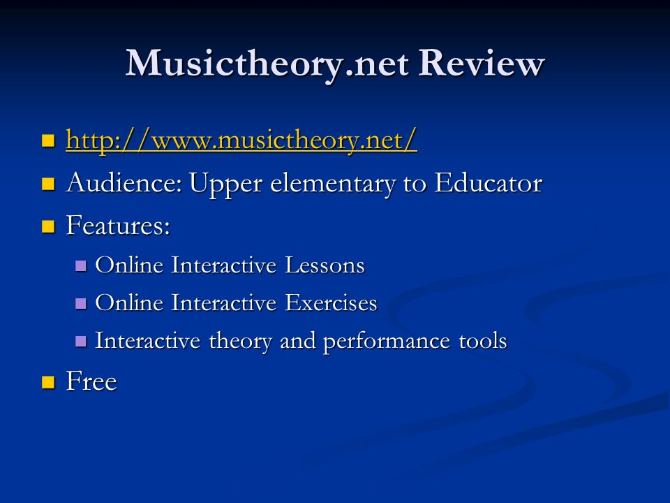 Musictheory.net Review