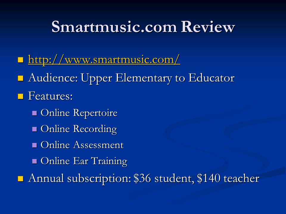 Smartmusic.com Review http://www.smartmusic.com/