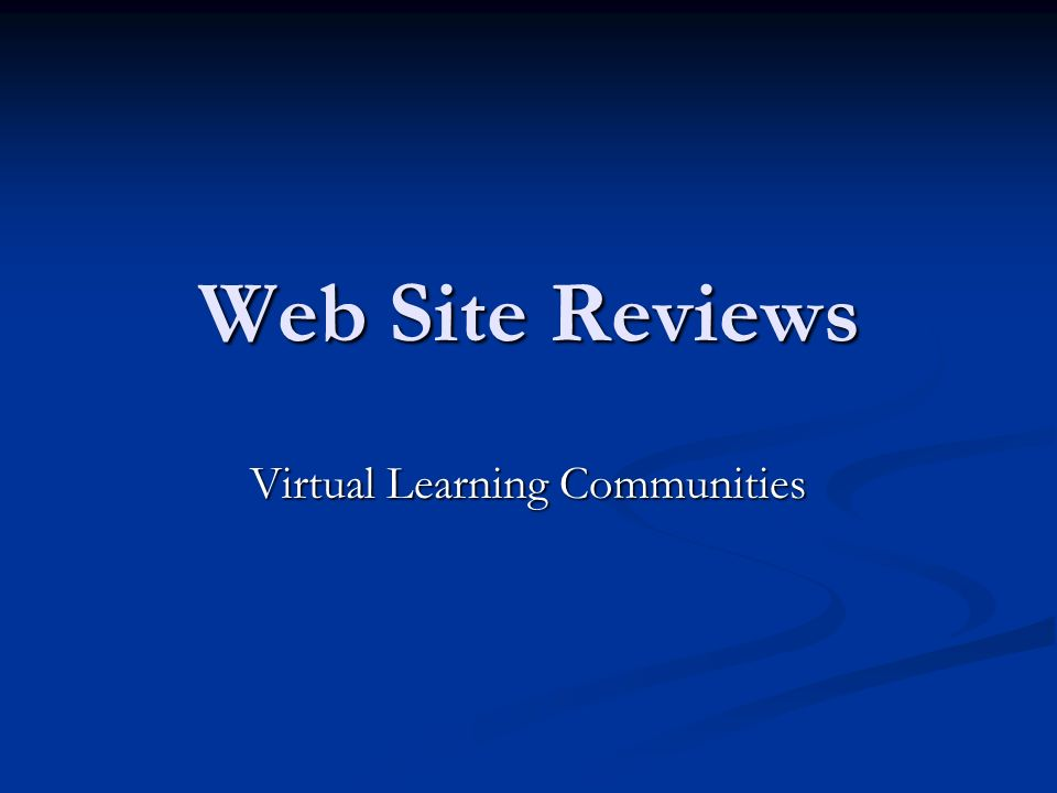 Virtual Learning Communities