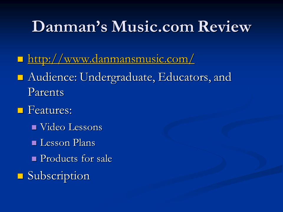 Danman's Music.com Review