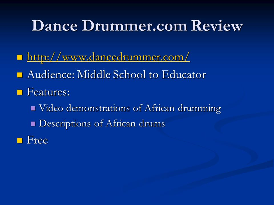 Dance Drummer.com Review