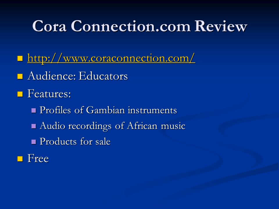 Cora Connection.com Review