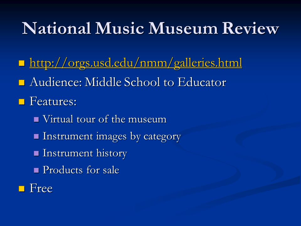 National Music Museum Review