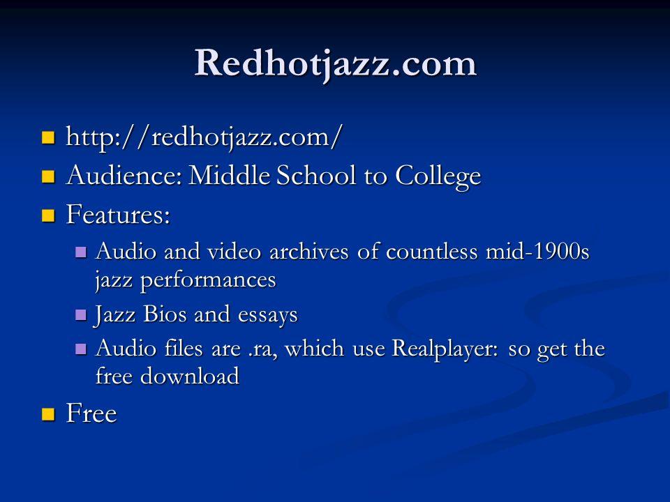 Redhotjazz.com http://redhotjazz.com/
