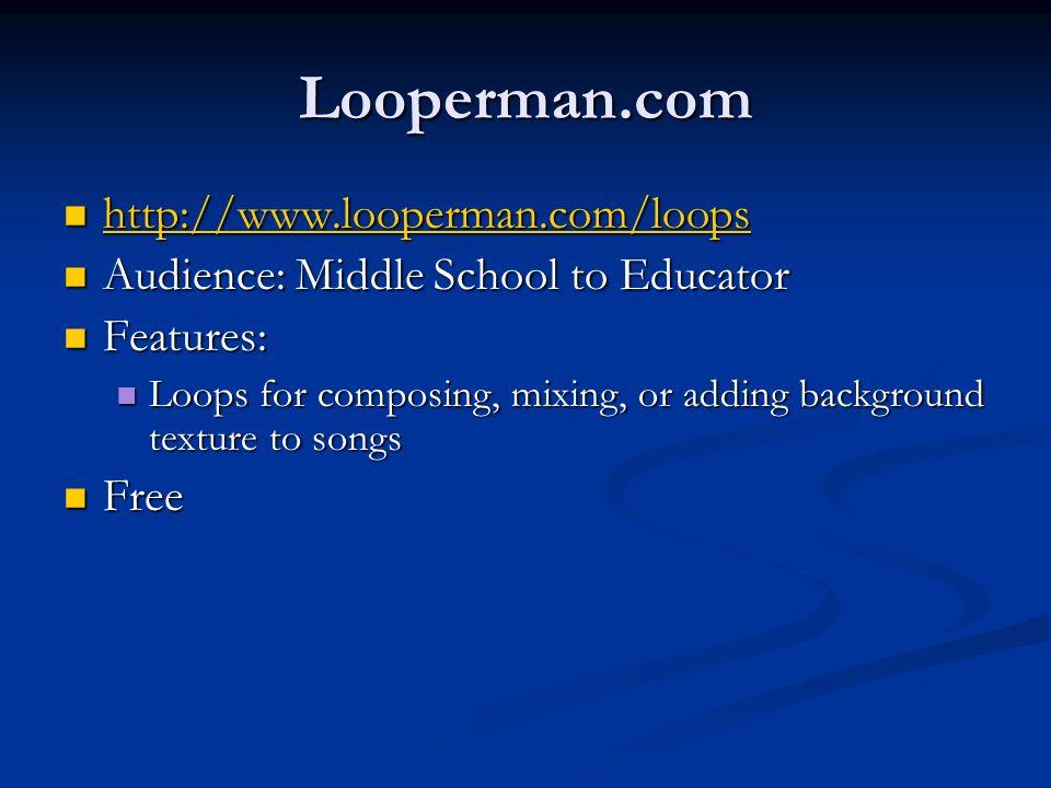 Looperman.com http://www.looperman.com/loops