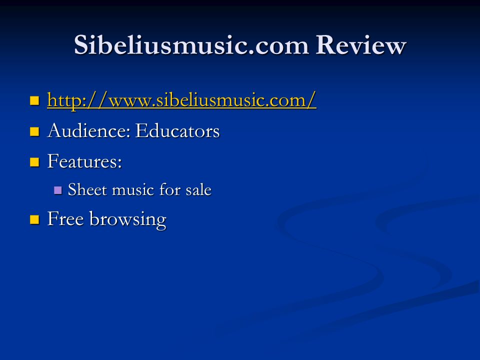Sibeliusmusic.com Review