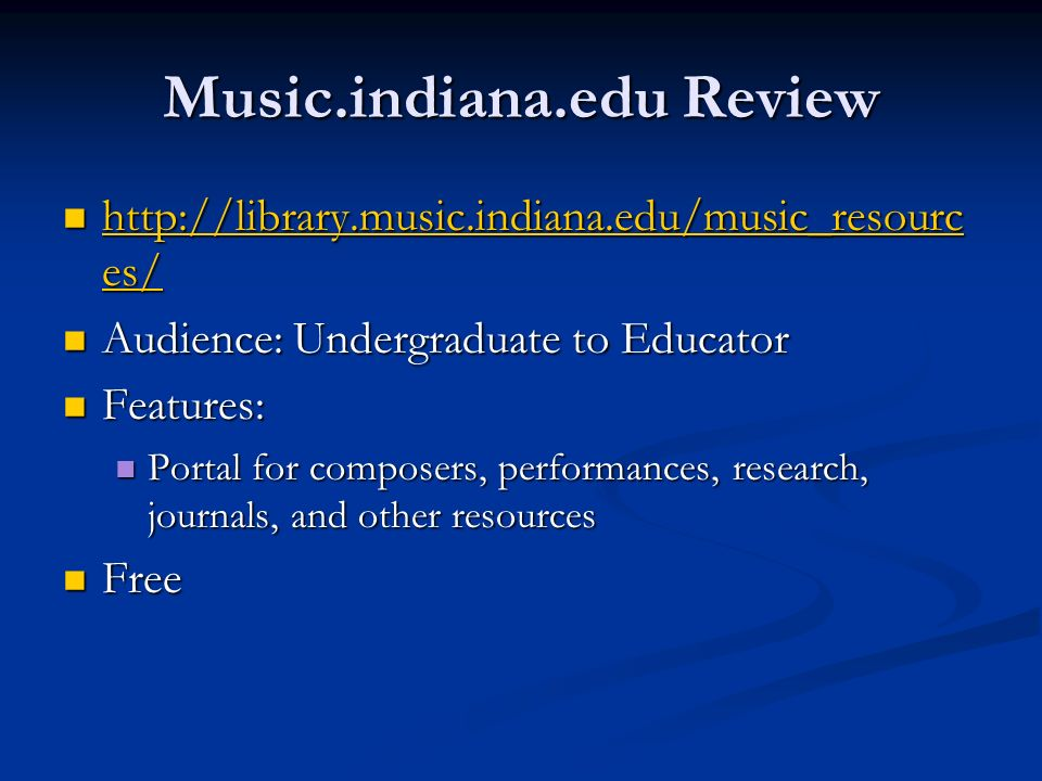 Music.indiana.edu Review