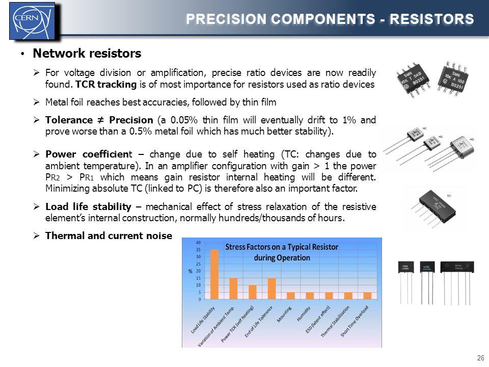 Precision components - Resistors