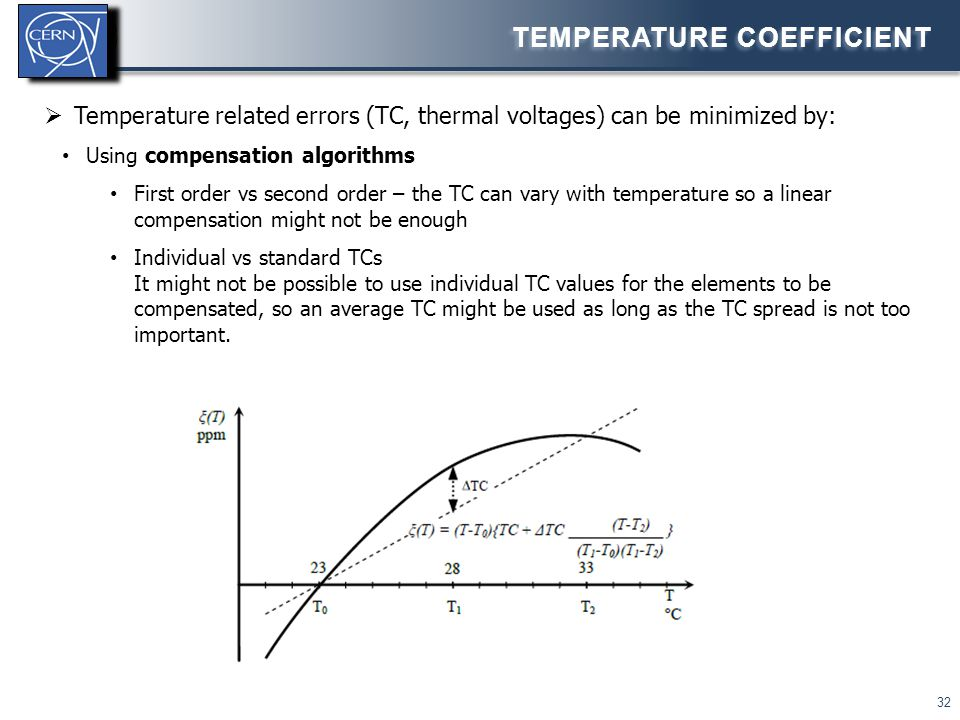 Temperature coefficient