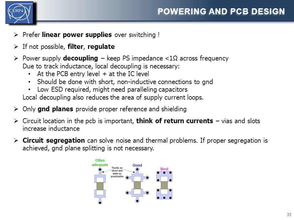 Powering and PCB design