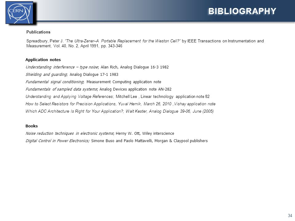 Bibliography Publications