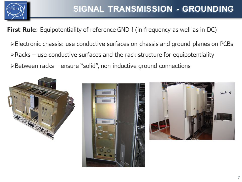 Signal transmission - grounding
