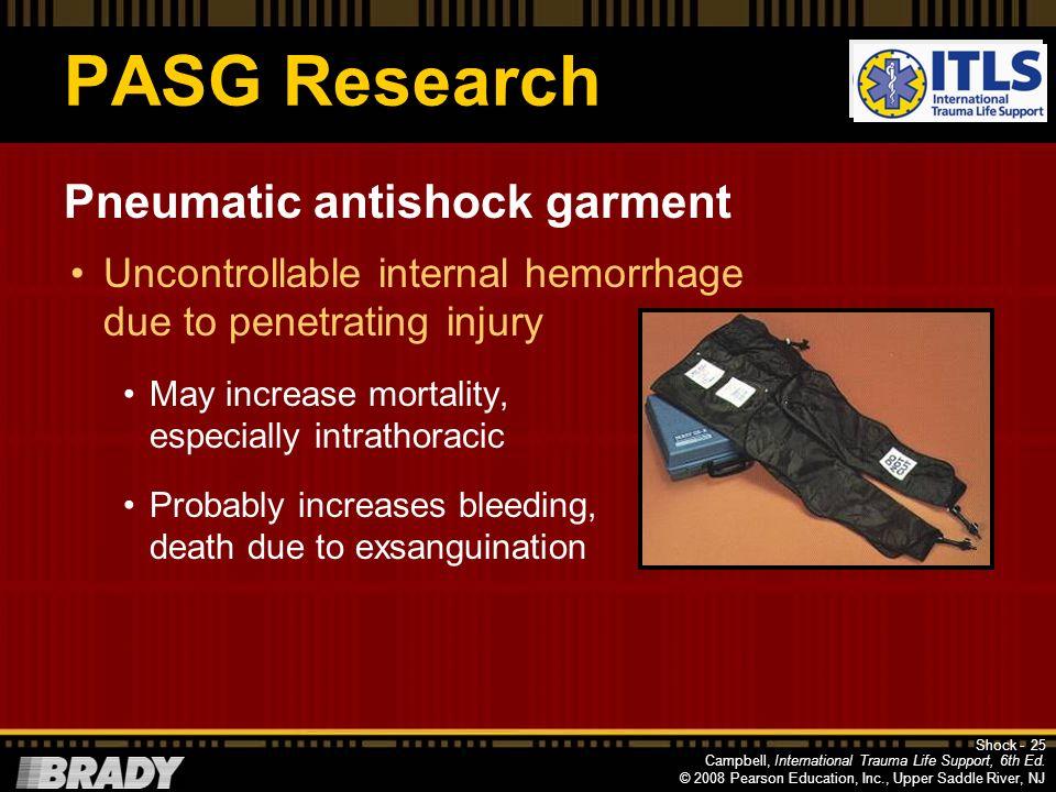 PASG Research Pneumatic antishock garment