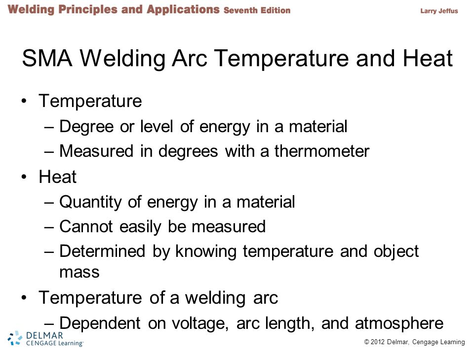 SMA Welding Arc Temperature and Heat