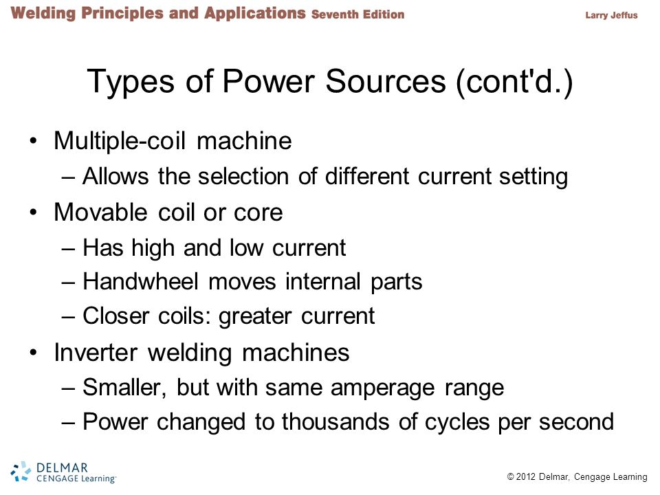 Types of Power Sources (cont d.)