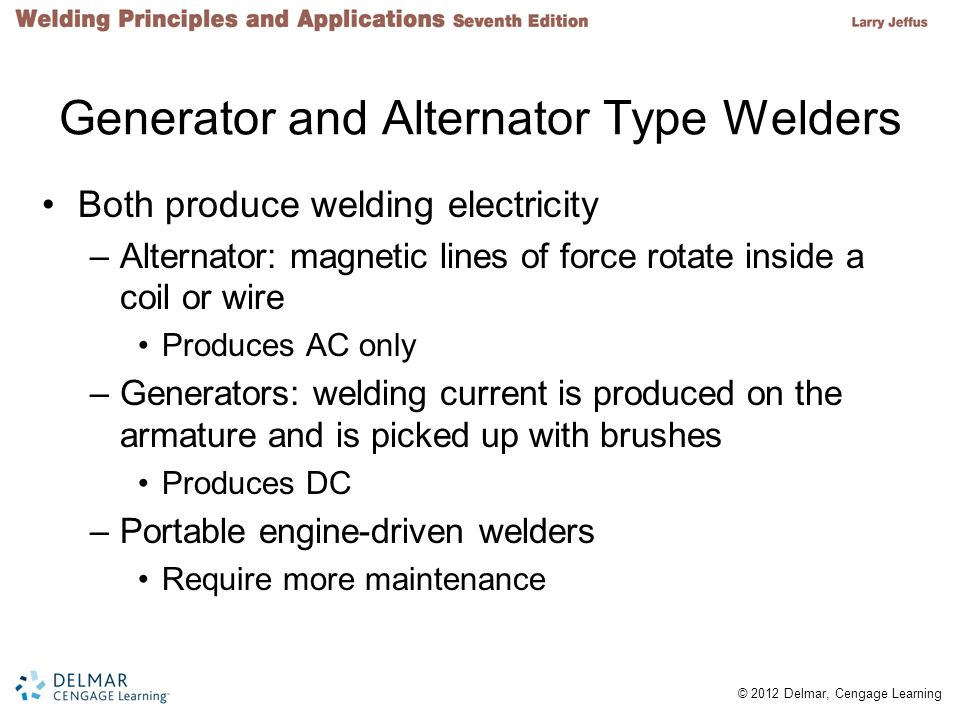 Generator and Alternator Type Welders