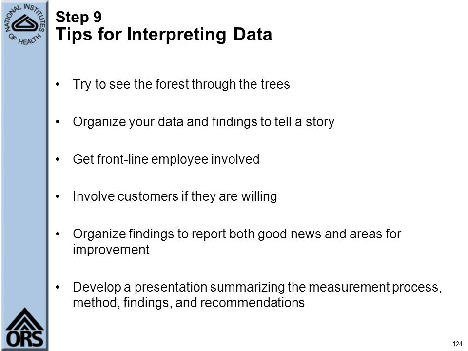 Step 9 Tips for Interpreting Data