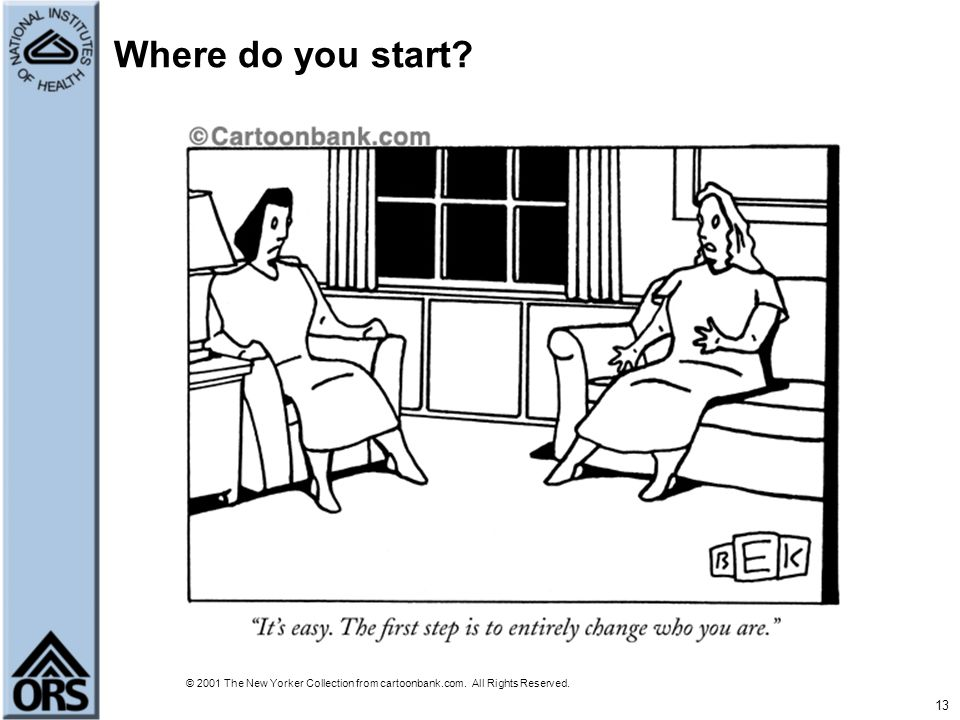 Where do you start © 2001 The New Yorker Collection from cartoonbank.com. All Rights Reserved.