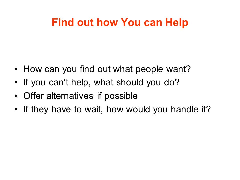 Find out how You can Help