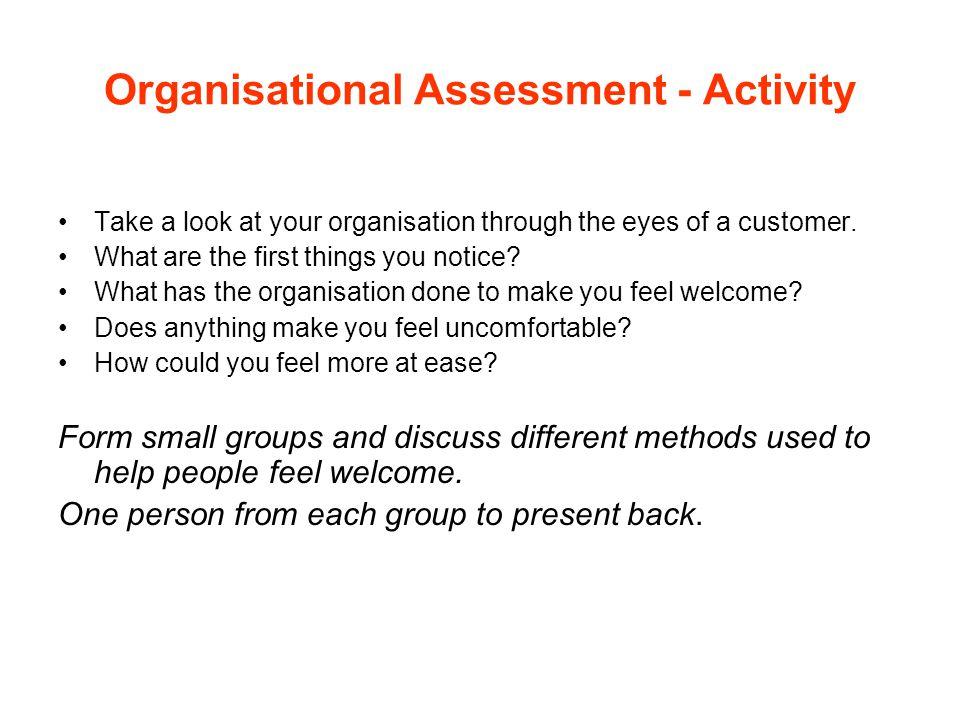 Organisational Assessment - Activity