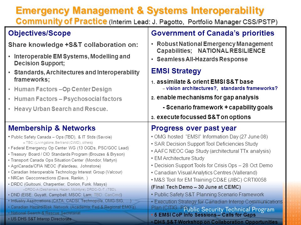 Emergency Management & Systems Interoperability