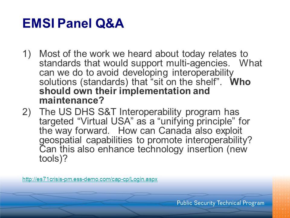 EMSI Panel Q&A