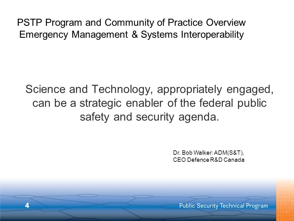 PSTP Program and Community of Practice Overview