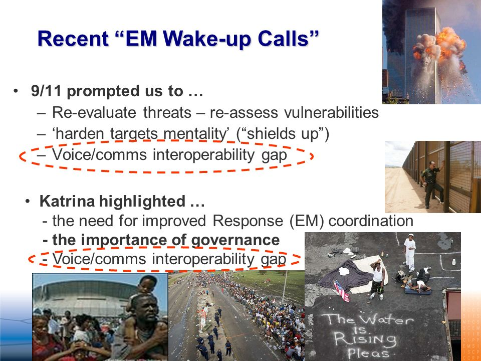 Recent EM Wake-up Calls