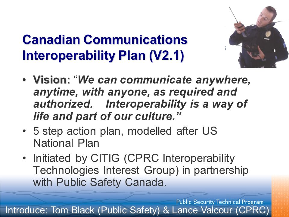 Canadian Communications Interoperability Plan (V2.1)