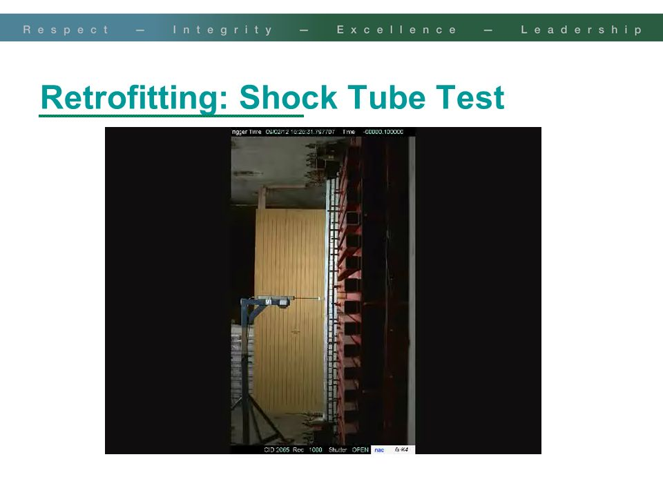 Retrofitting: Shock Tube Test