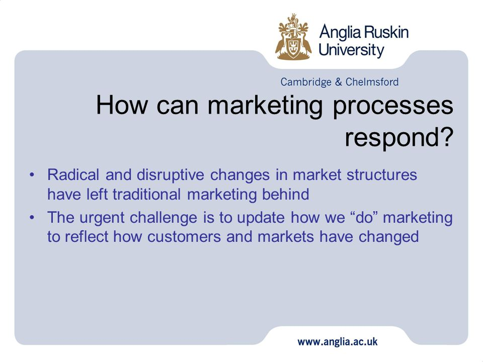 How can marketing processes respond